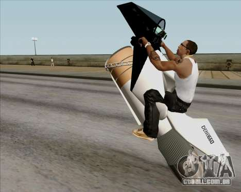 Air bike para GTA San Andreas vista interior