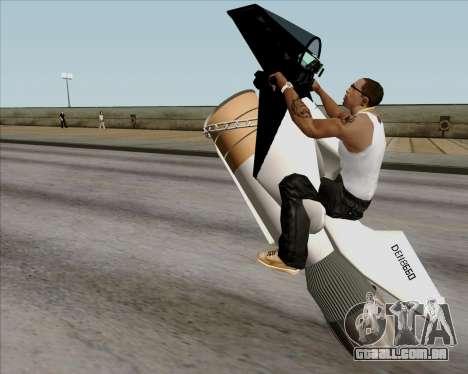 Air bike para GTA San Andreas vista interior