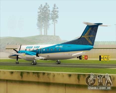 Embraer EMB 120 Brasilia Embraer Livery para GTA San Andreas vista direita