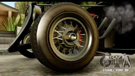 GTA 5 Hotknife IVF para GTA San Andreas traseira esquerda vista