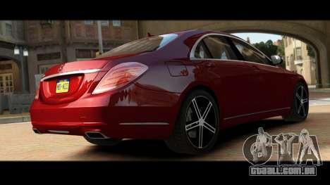 Mercedes-Benz S500 W222 para GTA 4 vista de volta
