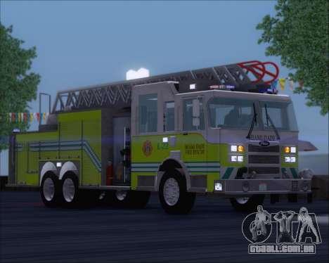 Pierce Arrow XT Miami Dade FD Ladder 22 para GTA San Andreas esquerda vista