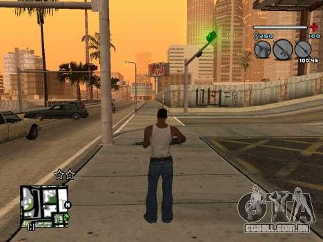 C-HUD Universal v3 para GTA San Andreas por diante tela