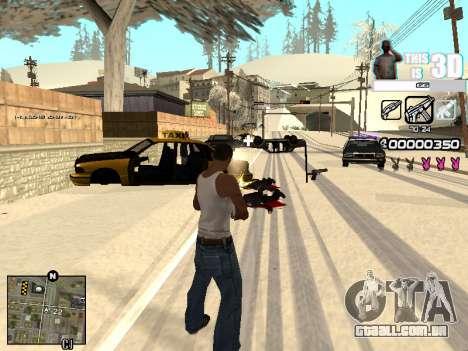 C-HUD 3D para GTA San Andreas por diante tela