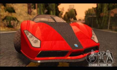 Grotti Cheetah v3 (GTA V) para GTA San Andreas esquerda vista