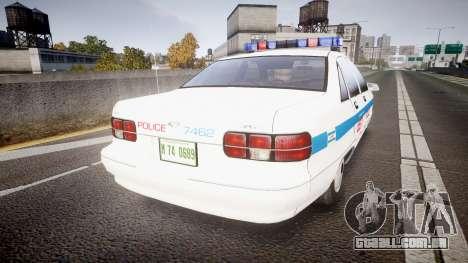 Chevrolet Caprice Liberty Police [ELS] para GTA 4 traseira esquerda vista