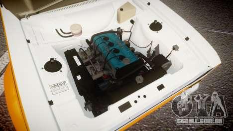 Ford Escort RS1600 PJ10 para GTA 4 vista de volta