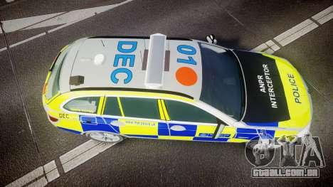 BMW 525d F11 2014 Metropolitan Police [ELS] para GTA 4 vista direita