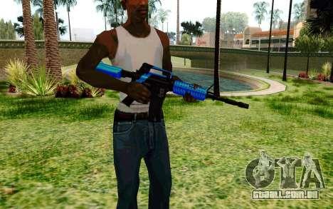 M4 Blue para GTA San Andreas segunda tela