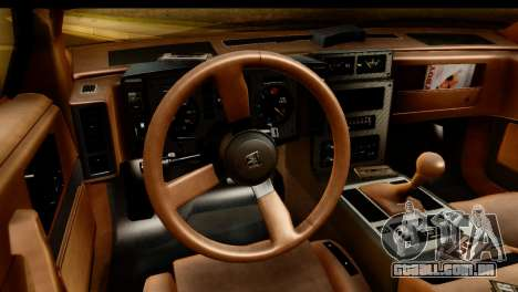 Pontiac Fiero GT G97 1985 IVF para GTA San Andreas vista traseira