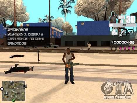 C-HUD 3D para GTA San Andreas quinto tela