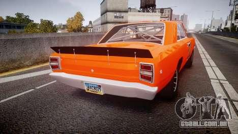 Dodge Dart HEMI Super Stock 1968 rims4 para GTA 4 traseira esquerda vista