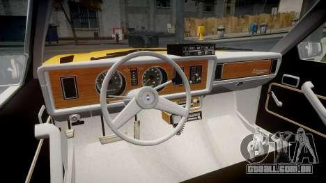 Ford Fairmont 1978 Taxi v1.1 para GTA 4 vista de volta