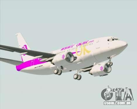 Boeing 737-500 Okay Airways para GTA San Andreas vista traseira