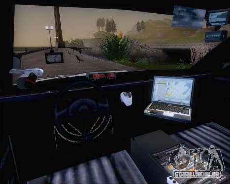 Police LS Metropolitan Police para GTA San Andreas vista traseira