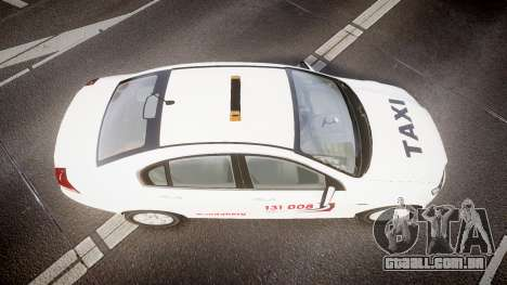 Holden Commodore Omega Queensland Taxi v3.0 para GTA 4 vista direita