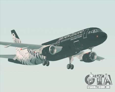 Airbus A320-200 Air New Zealand para GTA San Andreas vista traseira