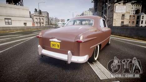 Ford Business 1949 para GTA 4 traseira esquerda vista