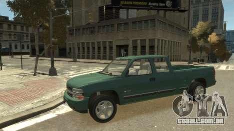 Chevrolet Silverado 1500 para GTA 4 vista de volta