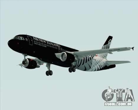 Airbus A320-200 Air New Zealand para GTA San Andreas vista superior