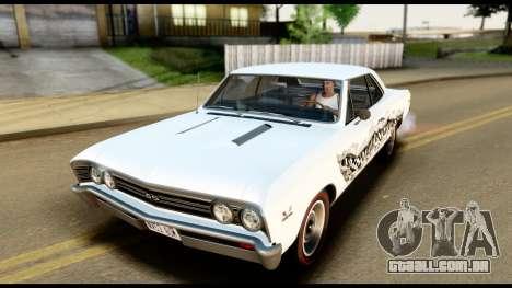 Chevrolet Chevelle SS 396 L78 Hardtop Coupe 1967 para as rodas de GTA San Andreas