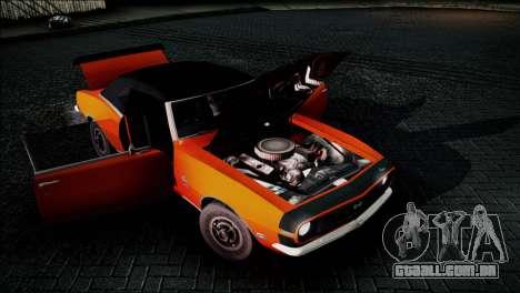 Chevrolet Camaro 350 para GTA San Andreas vista traseira