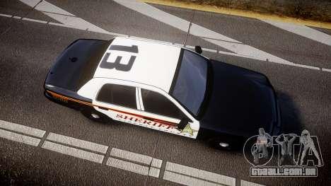 Ford Crown Victoria Sheriff [ELS] rims1 para GTA 4 vista direita