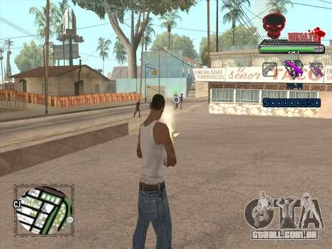 C-HUD by VinC para GTA San Andreas por diante tela