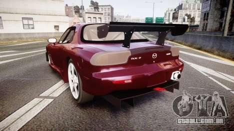 Mazda RX-7 Custom para GTA 4 traseira esquerda vista