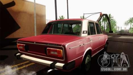 VAZ 2106 Lada v2 para GTA San Andreas traseira esquerda vista