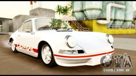 Porsche 911 Carrera 2.7RS Coupe 1973 Tunable para GTA San Andreas vista interior