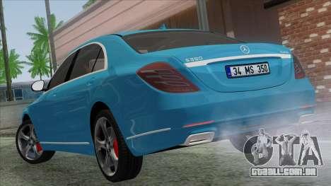 Mercedes-Benz S350 2015 Bluetec para GTA San Andreas esquerda vista