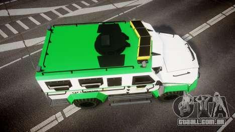 Gruppe6 Van [ELS] para GTA 4 vista direita