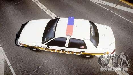 Ford Crown Victoria Sheriff Liberty [ELS] para GTA 4 vista direita