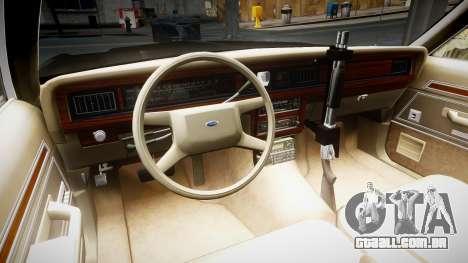 Ford LTD Crown Victoria 1987 LCPD [ELS] para GTA 4 vista de volta