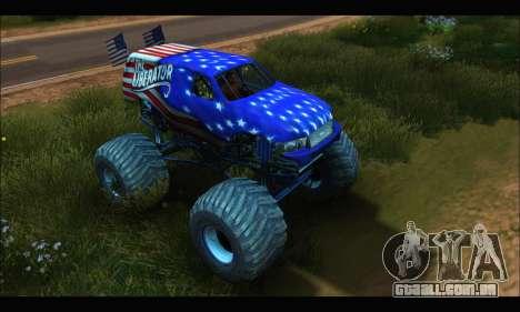 Monster The Liberator (GTA V) para GTA San Andreas esquerda vista