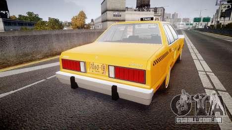 Ford Fairmont 1978 Taxi v1.1 para GTA 4 traseira esquerda vista