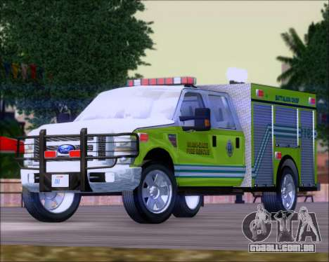 Ford F350 XLT Super Duty MDFD Batalion Chief 12 para GTA San Andreas