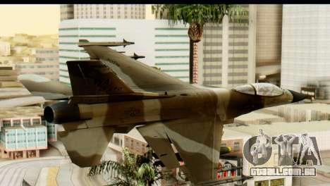F-16 Fighter-Bomber Desert Camo para GTA San Andreas esquerda vista