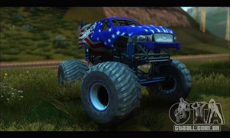 Monster The Liberator (GTA V) para GTA San Andreas vista traseira
