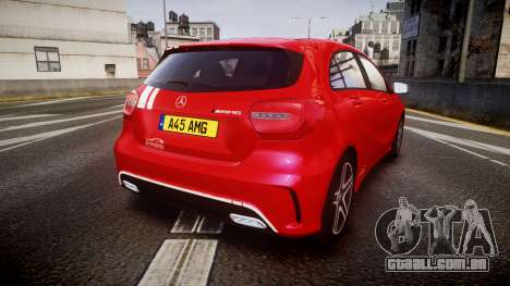 Mersedes-Benz A45 AMG PJs2 para GTA 4 traseira esquerda vista