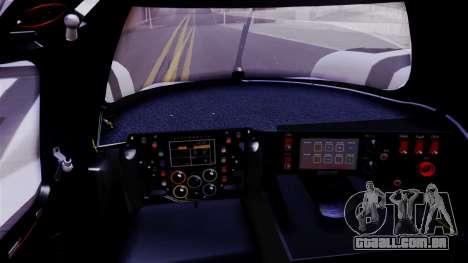 Porsche 919 Hybrid 2014 para GTA San Andreas vista traseira