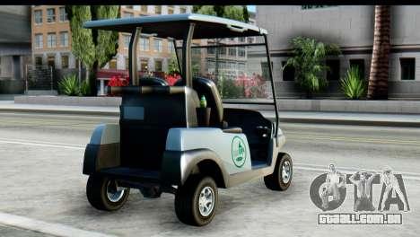 GTA 5 Caddy v2 para GTA San Andreas esquerda vista