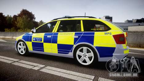 Skoda Octavia Combi vRS 2014 [ELS] Traffic Unit para GTA 4