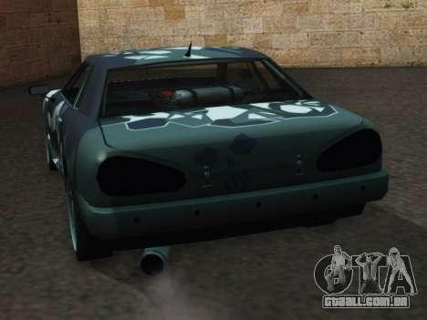 Elegy Korch para GTA San Andreas traseira esquerda vista