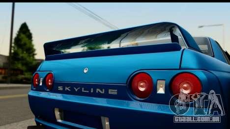 Nissan Skyline R32 Targa para GTA San Andreas traseira esquerda vista