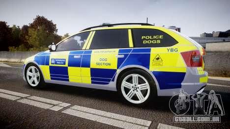 Skoda Octavia Combi vRS 2014 [ELS] Dog Unit para GTA 4 esquerda vista