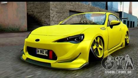 Subaru BRZ 2013 para GTA San Andreas