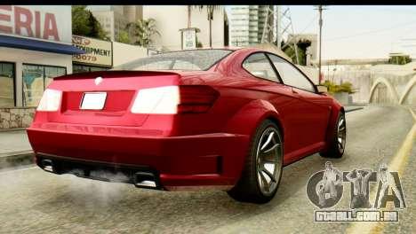 GTA 5 Benefactor Schwartzer para GTA San Andreas esquerda vista