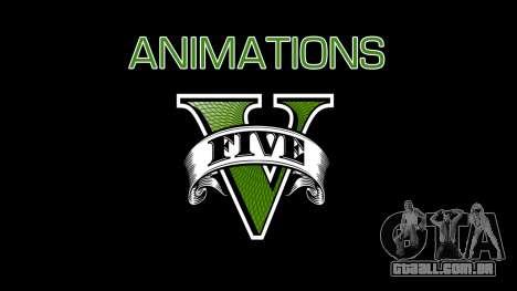 Animations GTA V para GTA San Andreas